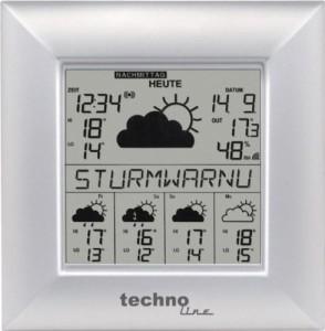 Wetterstation kaufen - Technoline WetterDirektStation WD 9000, Silber, 2-teilig bestehend aus Station und Sensor